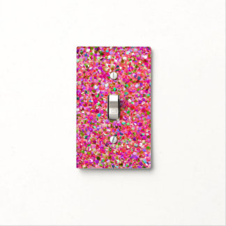 Multicolor Mosaic Modern Grit Glitter #4 Light Switch Cover