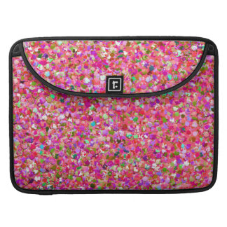 Multicolor Mosaic Modern Grit Glitter #4 Sleeve For MacBook Pro