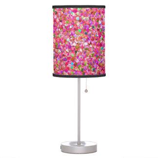 Multicolor Mosaic Modern Grit Glitter #4 Table Lamp