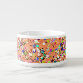 Multicolor Mosaic Modern Grit Glitter #5 Bowl