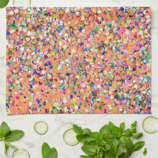 Multicolor Mosaic Modern Grit Glitter #5 Kitchen Towel