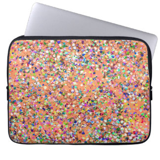 Multicolor Mosaic Modern Grit Glitter #5 Laptop Sleeve