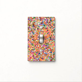 Multicolor Mosaic Modern Grit Glitter #5 Light Switch Cover