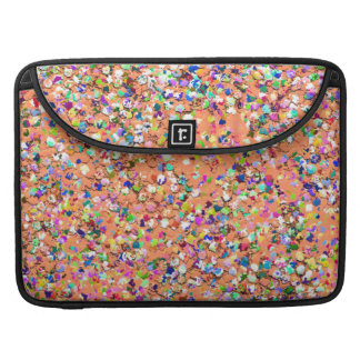 Multicolor Mosaic Modern Grit Glitter #5 Sleeve For MacBook Pro