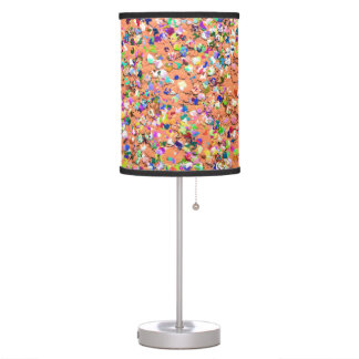 Multicolor Mosaic Modern Grit Glitter #5 Table Lamp