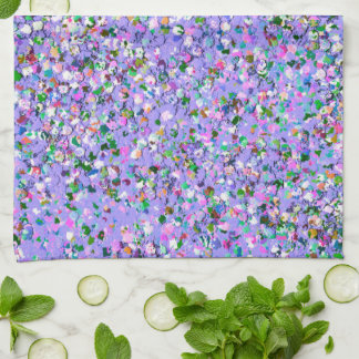 Multicolor Mosaic Modern Grit Glitter #6 Kitchen Towel