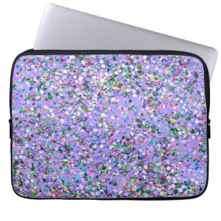 Multicolor Mosaic Modern Grit Glitter #6 Laptop Sleeve