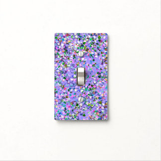 Multicolor Mosaic Modern Grit Glitter #6 Light Switch Cover