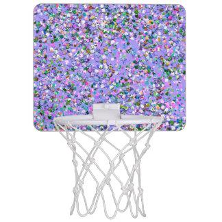 Multicolor Mosaic Modern Grit Glitter #6 Mini Basketball Hoop