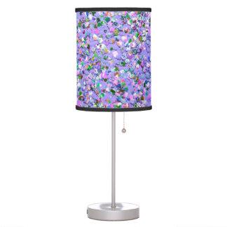 Multicolor Mosaic Modern Grit Glitter #6 Table Lamp