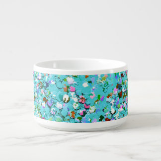 Multicolor Mosaic Modern Grit Glitter #7 Bowl