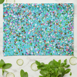 Multicolor Mosaic Modern Grit Glitter #7 Kitchen Towel