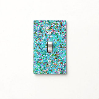 Multicolor Mosaic Modern Grit Glitter #7 Light Switch Cover