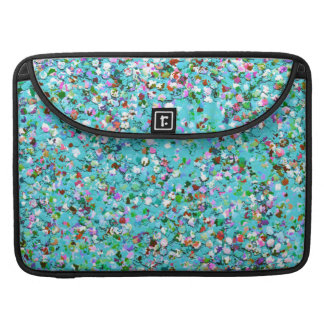 Multicolor Mosaic Modern Grit Glitter #7 Sleeve For MacBook Pro