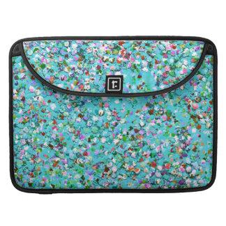Multicolor Mosaic Modern Grit Glitter #7 Sleeve For MacBooks