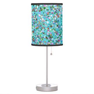 Multicolor Mosaic Modern Grit Glitter #7 Table Lamp