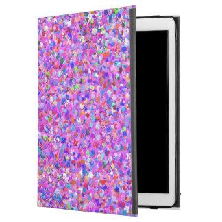 "Multicolor Mosaic Modern Grit Glitter #8 iPad Pro 12.9"" Case"