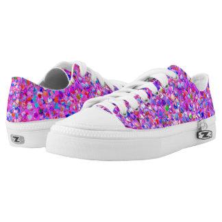 Multicolor Mosaic Modern Grit Glitter #8 Low-Top Sneakers