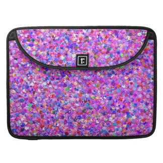 Multicolor Mosaic Modern Grit Glitter #8 Sleeve For MacBooks