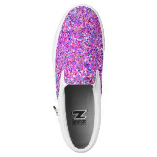 Multicolor Mosaic Modern Grit Glitter #8 Slip-On Sneakers
