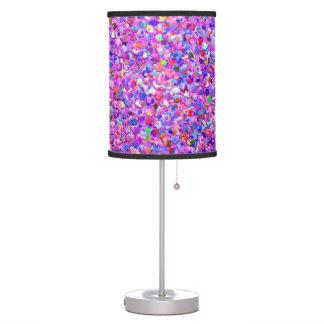 Multicolor Mosaic Modern Grit Glitter #8 Table Lamp
