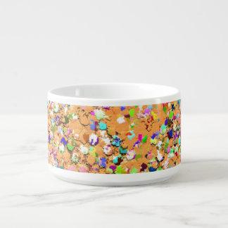 Multicolor Mosaic Modern Grit Glitter #9 Bowl