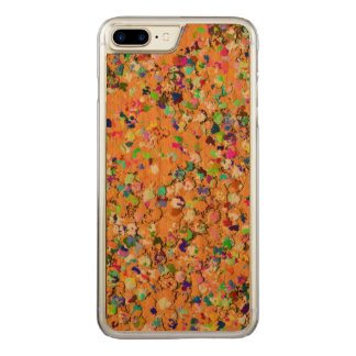 Multicolor Mosaic Modern Grit Glitter #9 Carved iPhone 8 Plus/7 Plus Case