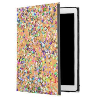 "Multicolor Mosaic Modern Grit Glitter #9 iPad Pro 12.9"" Case"