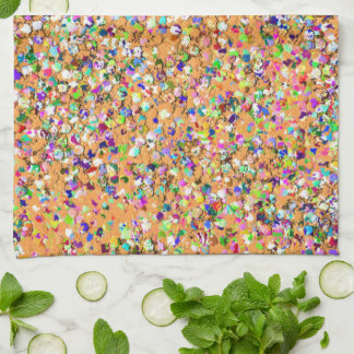 Multicolor Mosaic Modern Grit Glitter #9 Kitchen Towel