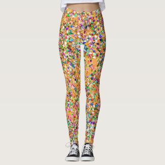 Multicolor Mosaic Modern Grit Glitter #9 Leggings