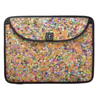 Multicolor Mosaic Modern Grit Glitter #9 Sleeve For MacBook Pro