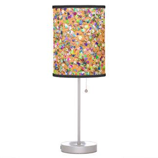 Multicolor Mosaic Modern Grit Glitter #9 Table Lamp