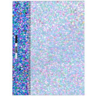 Multicolor Mosaic Modern Grit Glitter Dry Erase Board