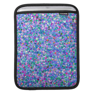 Multicolor Mosaic Modern Grit Glitter iPad Sleeve
