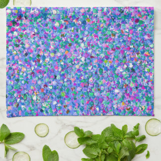 Multicolor Mosaic Modern Grit Glitter Kitchen Towel