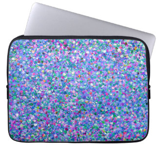 Multicolor Mosaic Modern Grit Glitter Laptop Sleeve