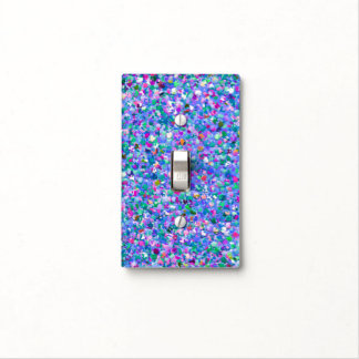 Multicolor Mosaic Modern Grit Glitter Light Switch Cover