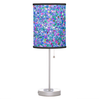 Multicolor Mosaic Modern Grit Glitter Table Lamp