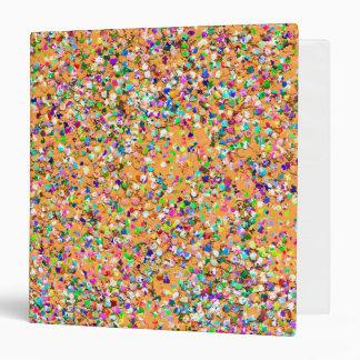 Multicolor Mosaic Modern Grit Glitter Vinyl Binders