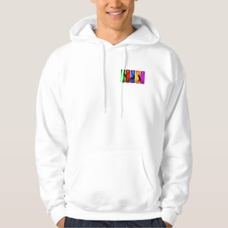 Multicolor Mountain Climbing Emblem Hoodie