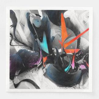 Multicolor Paint Paper Napkins