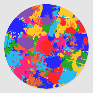 Multicolor Paint Splatter Sticker