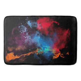 Multicolor Paint Stains Bath Mat
