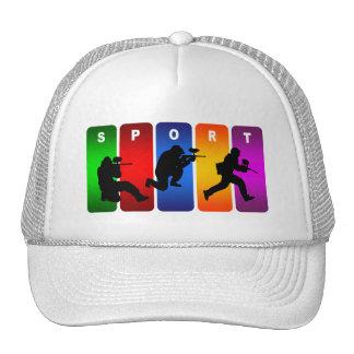Multicolor Paintball Emblem Trucker Hat