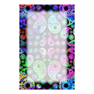 Multicolor Paisley Design Custom Stationery
