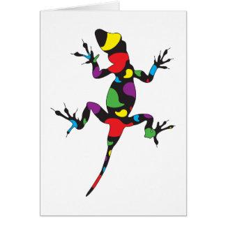 Multicolor Paisley Gecko Card