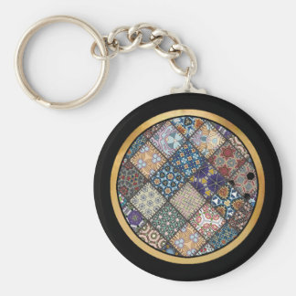 Multicolor patchwork pattern Gift Item Key Chain