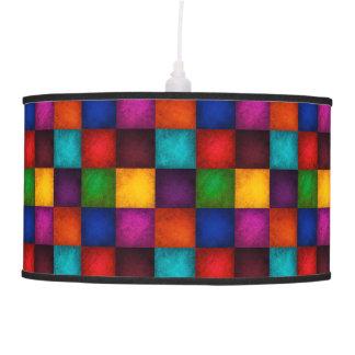 Multicolor Patchwork Pattern Pendant Lamp