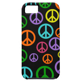 Multicolor Peace Signs iPhone 5 Case