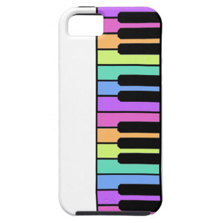 Multicolor piano keys iPhone 5 covers